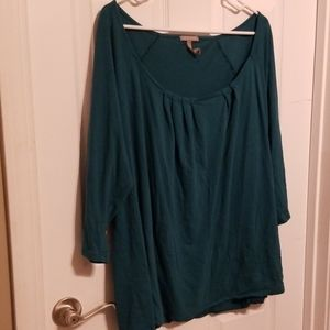 Old Navy Wide Neck Top 3/4 Length Sleeve 3X